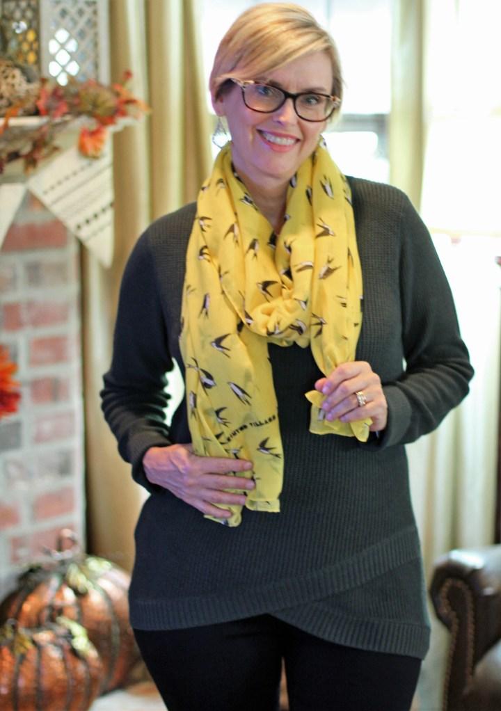 Linda Swallow Print Scarf from Printed Village
