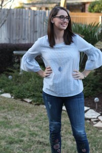 Stitch Fix Papermoon Eric Bell Sleeve Top