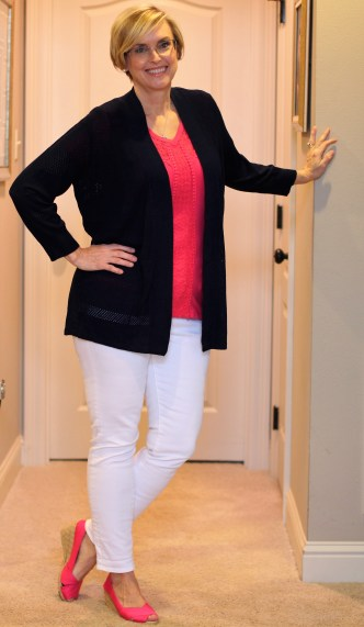 Stitch Fix LEO & NICOLE Andora Mesh Detail Open Cardigan