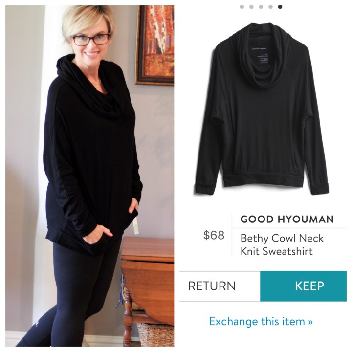 Good Hyouman Bethy Cowl Neck Knit Sweatshirt