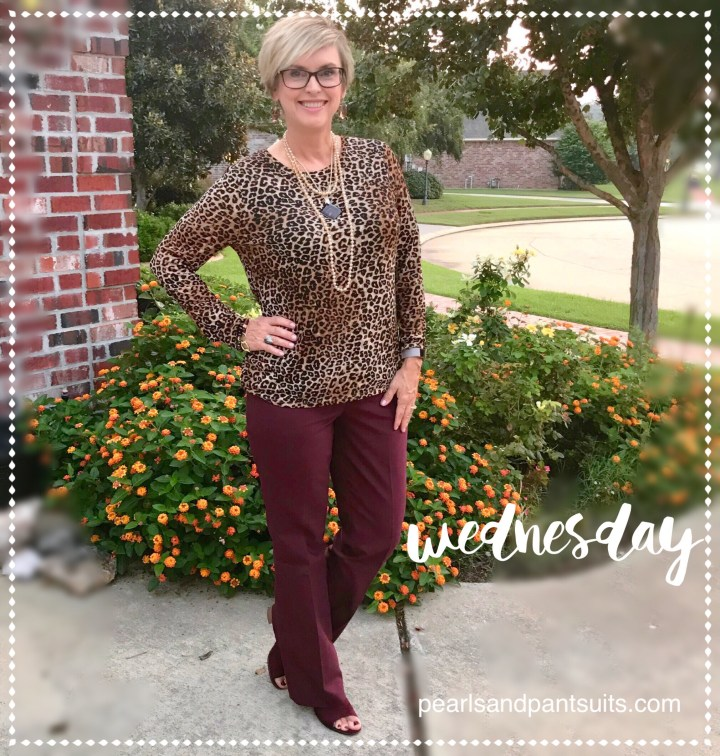 How to style Leopard and Burgundy