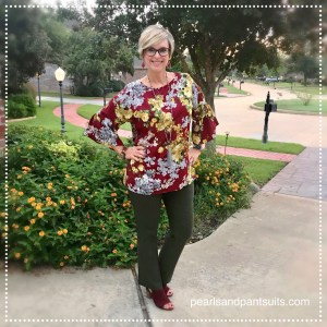 Floral Top and Olive pants