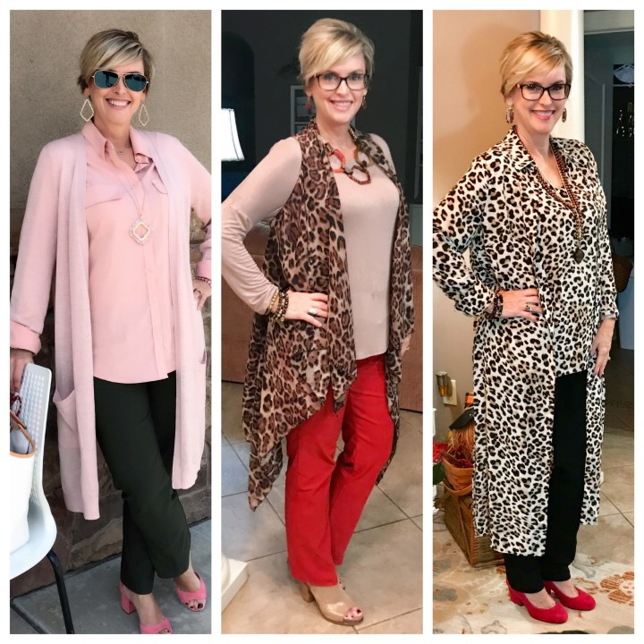 Leopard and Pink and red