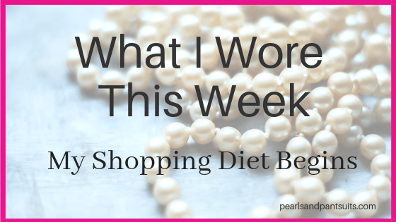 What I Wore – January 2019 My Shopping Diet Begins