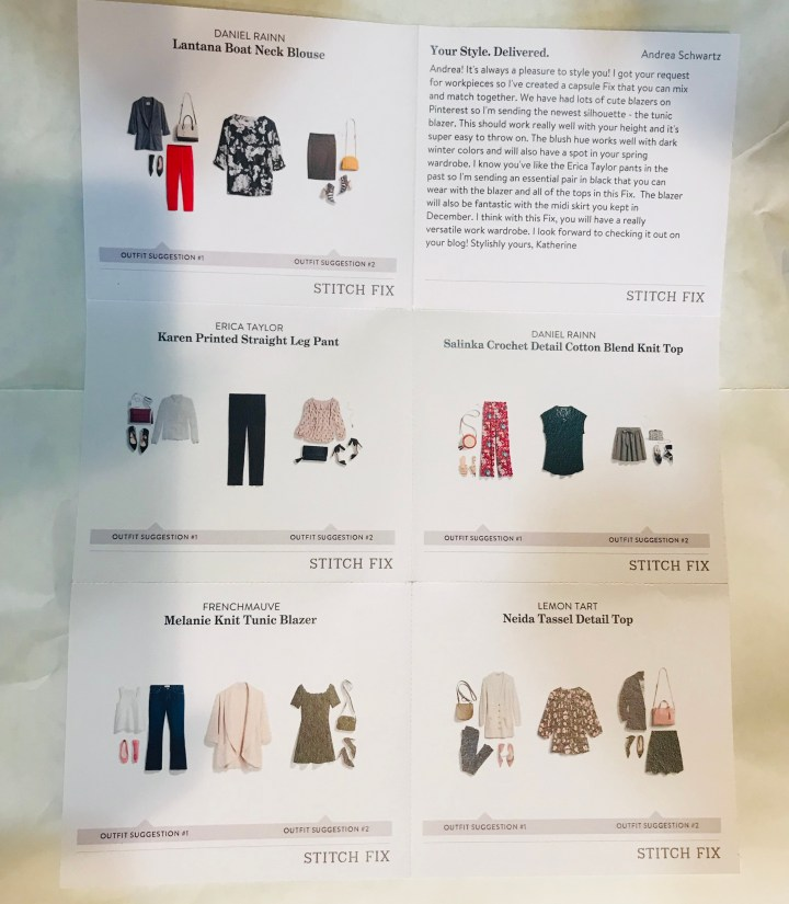 Stitch Fix Style Card