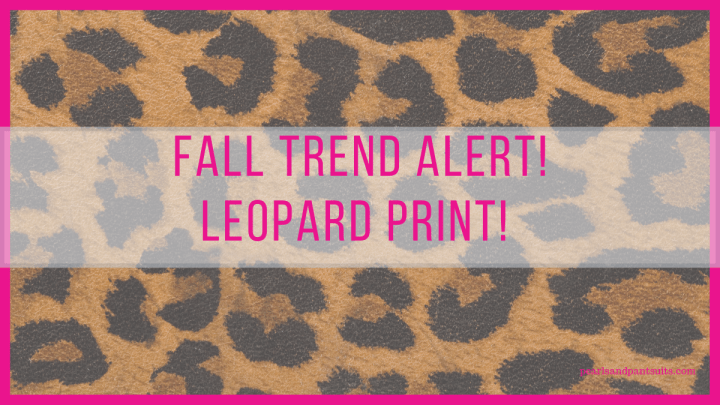Fall Trend Alert! Animal Prints