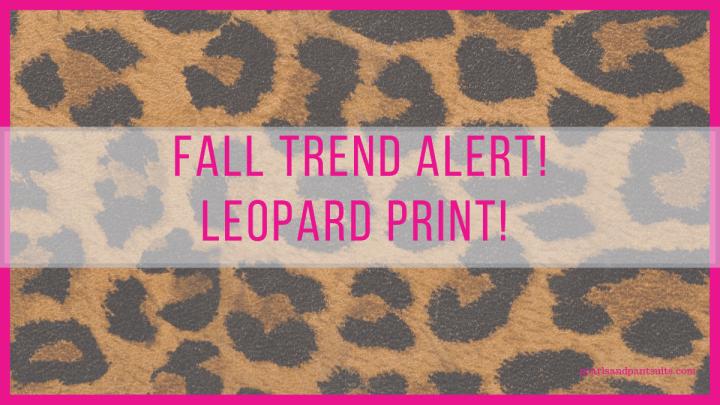 Fall Trend Alert! Animal Prints