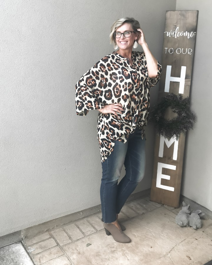 Umgee Leopard Tunic Top