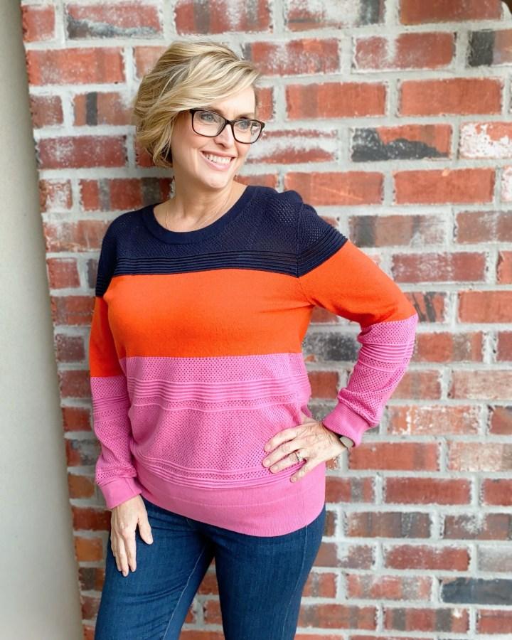 Market ^ Spruce Quintana Colorblock sweater