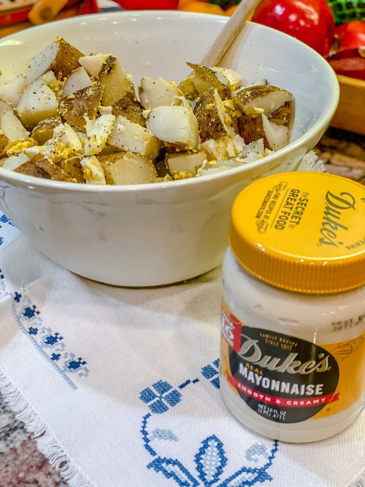 Duke's mayo and potato salad