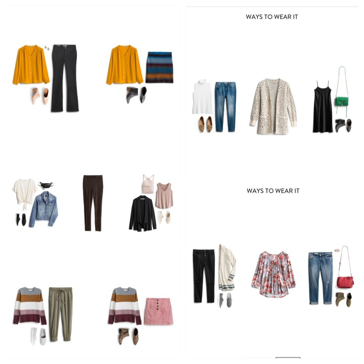 october Stitch Fix Style Cards