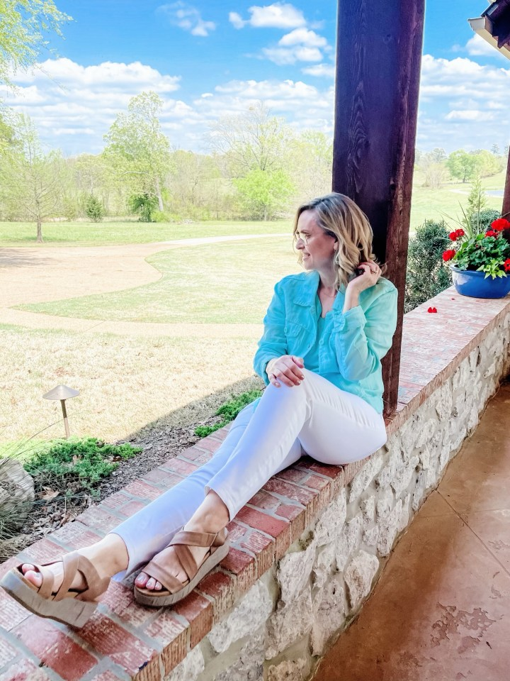 Styling a Linen Jacket with White Jeans