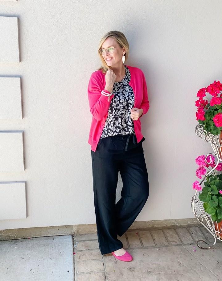 pink Sweater & Linen pants