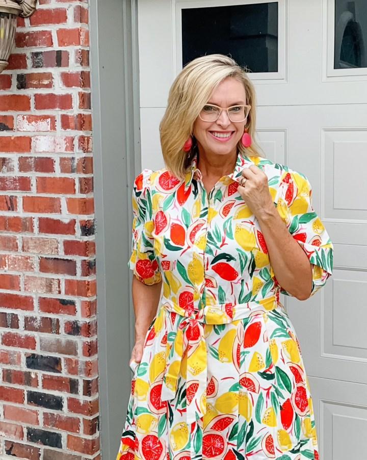 Donna Morgan Fruit Print Dress