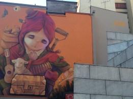 Amazing street art in Santiago.