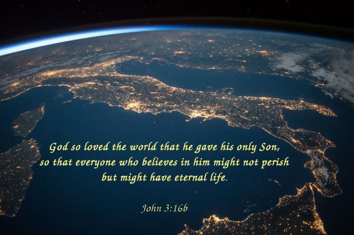 For God did not send his Son into the world to condemn the world