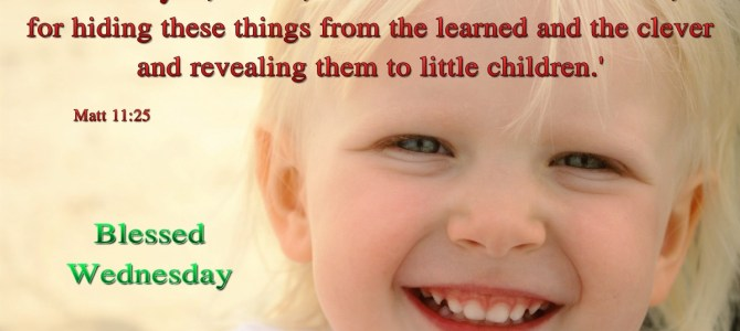 You revealed these things to little children (BL)