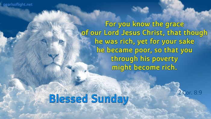 …though he was rich, yet for your sake he became poor, so that you through his poverty might become rich.
