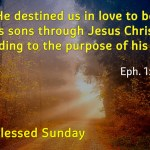He destined us in love to be his sons through Jesus Christ…