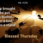 """Is a lamp brought in to be put under a bushel, or under a bed, and not on a stand"""
