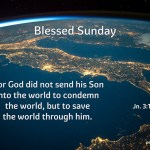 For God did not send his Son into the world to condemn the world…