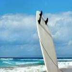 15600933 - surfboard on fuerteventura beach