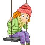 63896068 - illustration of a sad little girl sitting on a swing