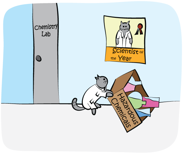 Science Cat - Hazardous Chemicals