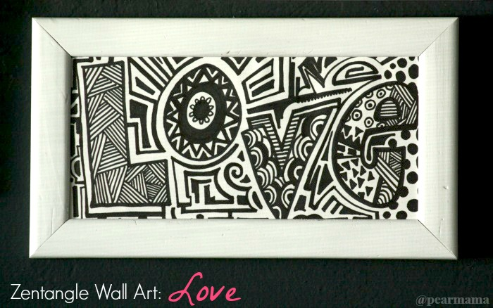 Make Your Own Zentangle Wall Art Love Pearmama
