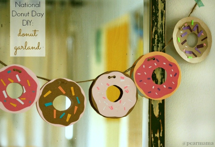 National Donut Day How To Make A Donut Garland Pearmama
