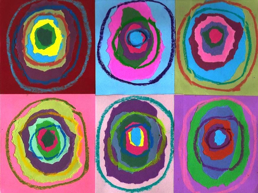 For Kids Make A Collage Like Kandinsky Pearmama