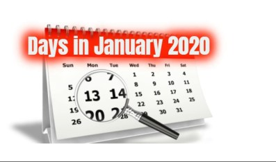 How many days are in january 2020