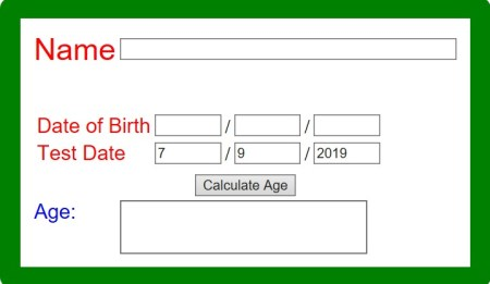 Age Calculator Online by Date of Birth