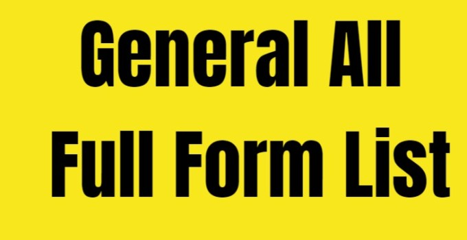 General full Form