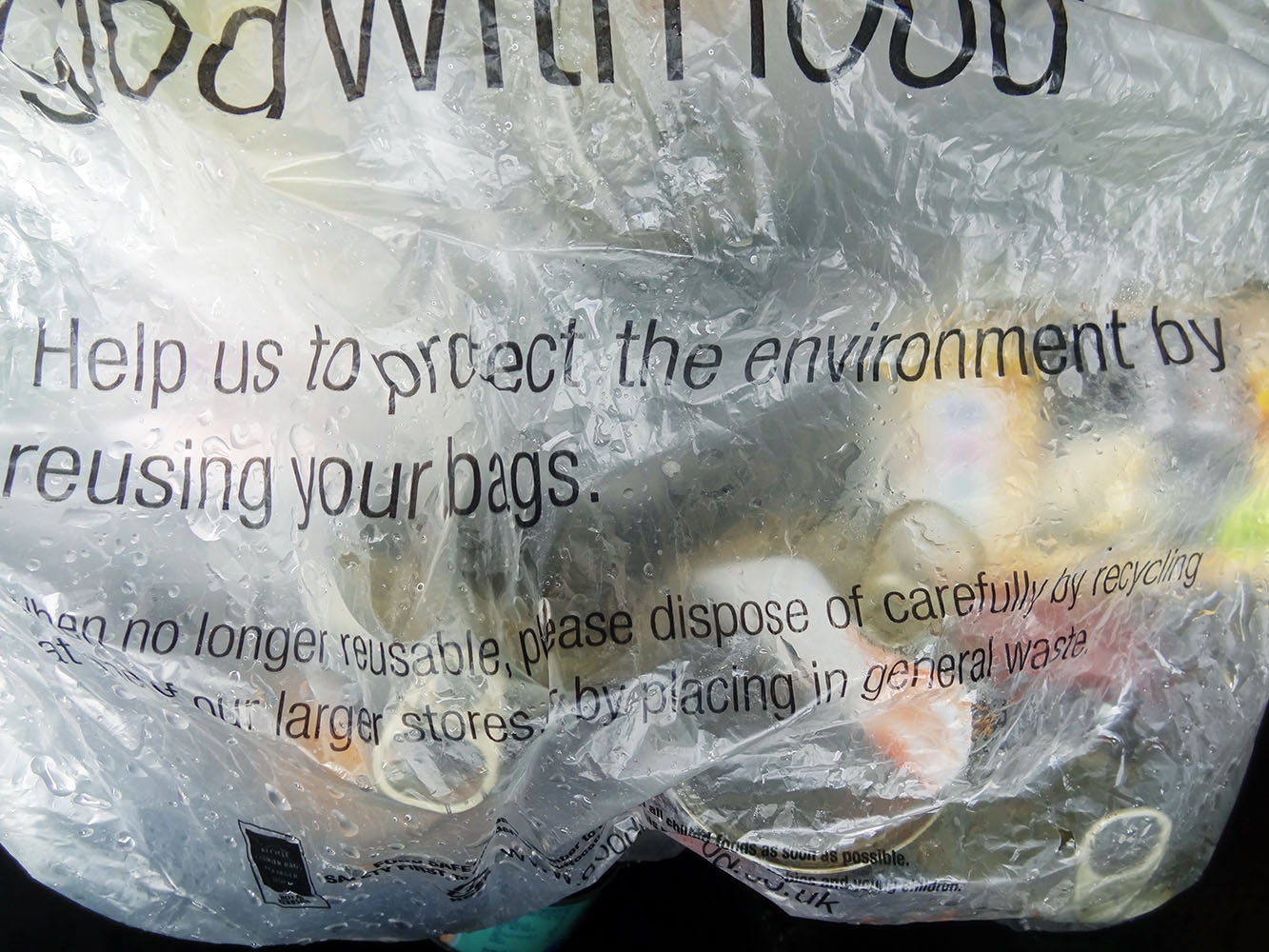 Do you want to be taxed for using plastic bags like the Irish are?