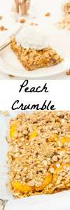 Peach dessert with a sweet and crunchy topping. Served warm or cold this one is sure to be great addition to your dessert list.