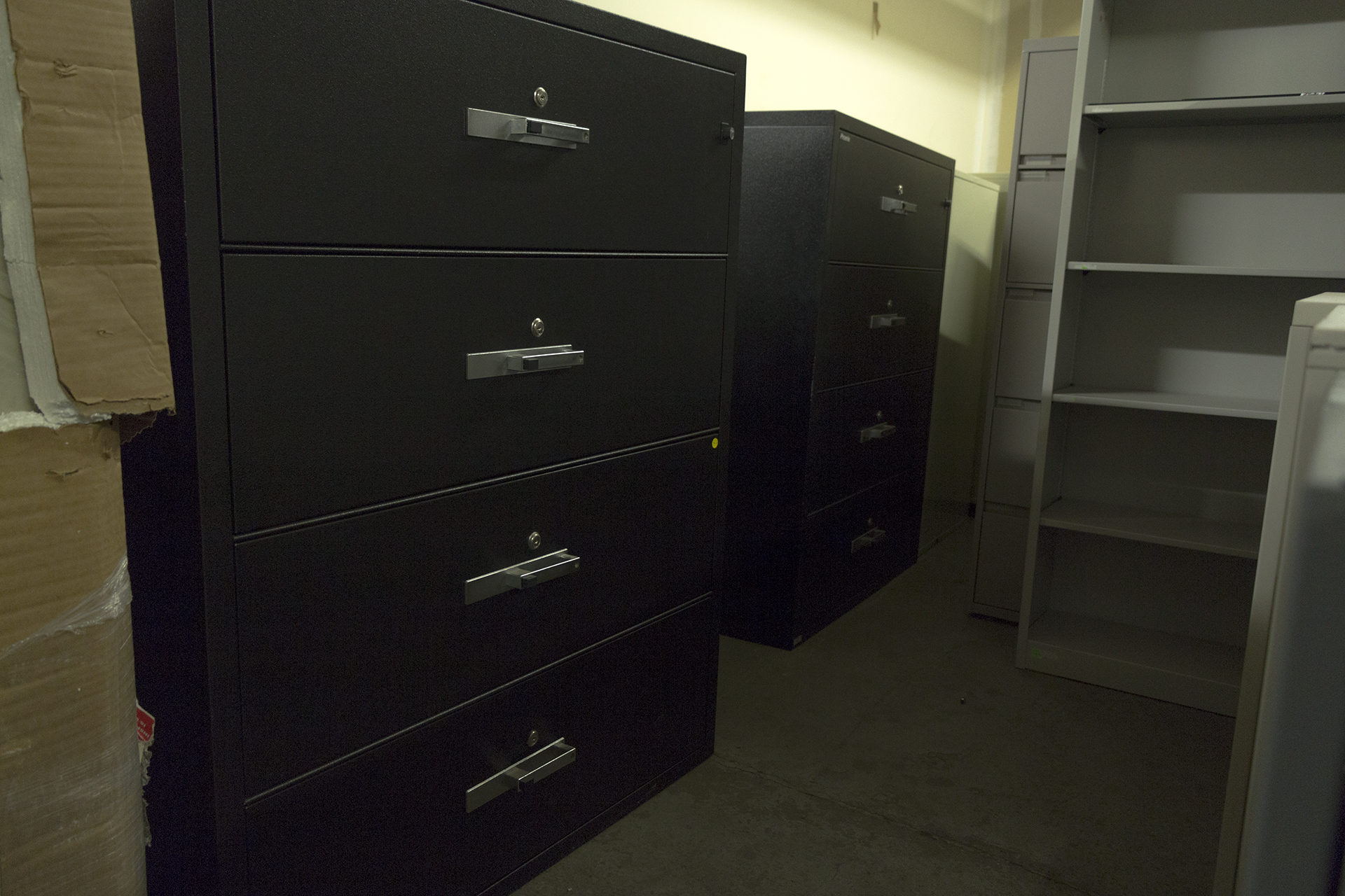 Phoenix Lat4w44 Black Fireproof 4 Drawer Lateral File Cabinets