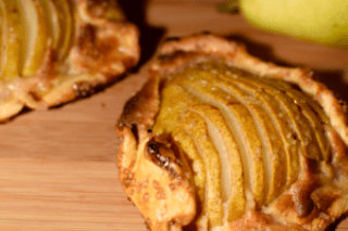 Pear tart, frangipane, pearwise tutoring, custom