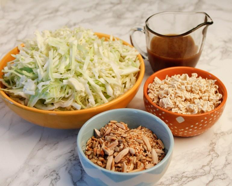 Sesame Slaw Ingredient Bowls