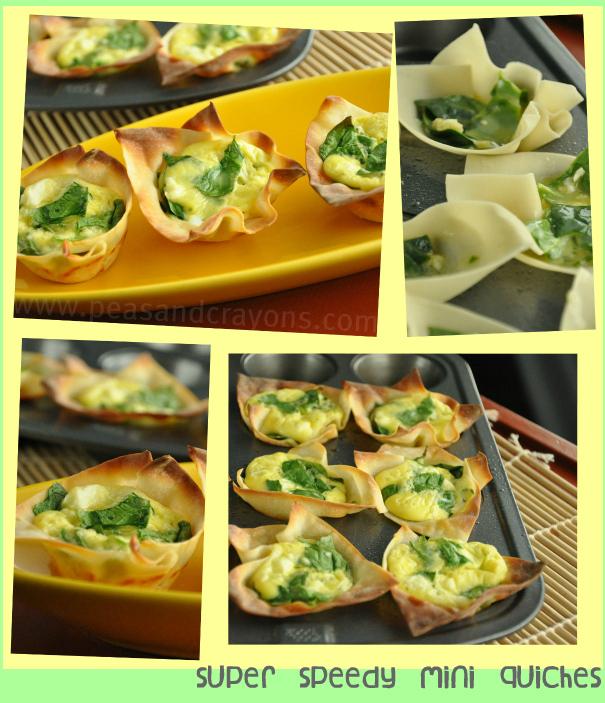 wonton egg cups collage