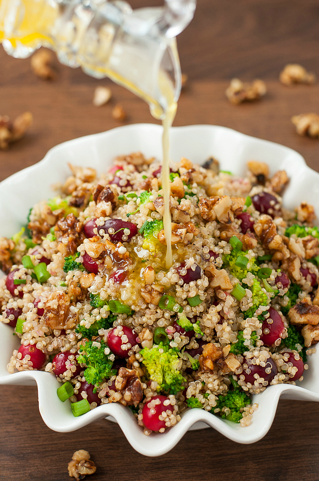 Cranberry Quinoa Salad with Candied Walnuts :: hands-down one of my favorite healthy salad recipes!