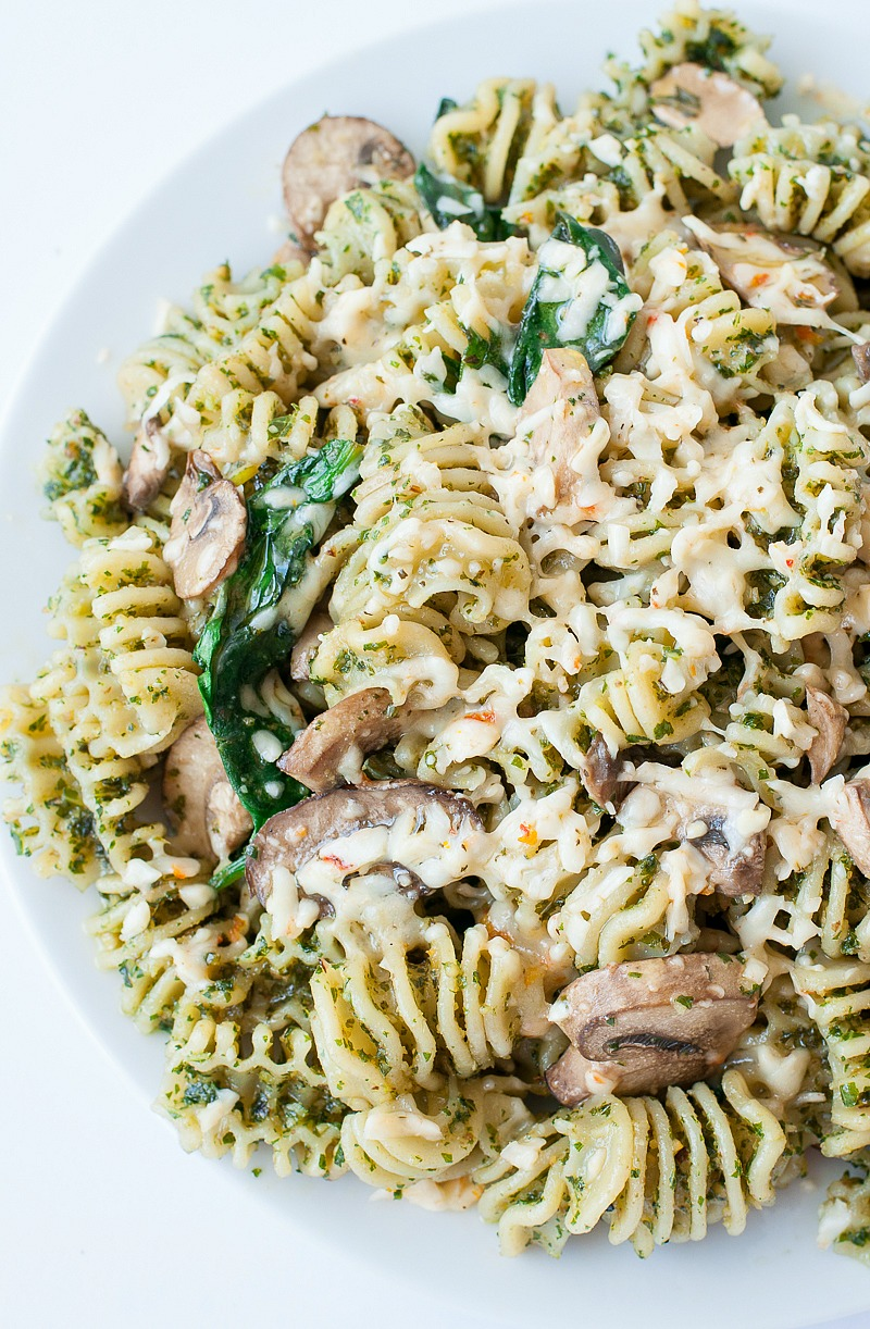 A few easy steps will take this gorgeous green pesto from