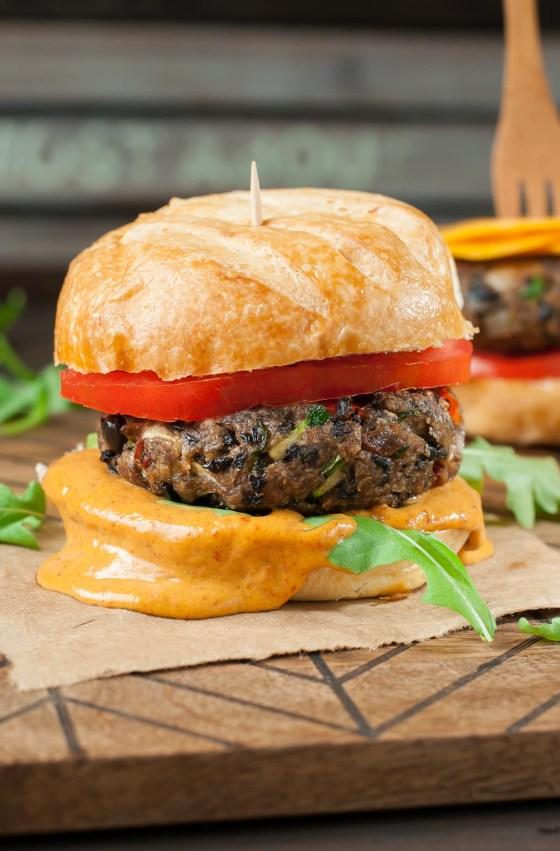 Image result for Homemade Black Bean Veggie Burgers