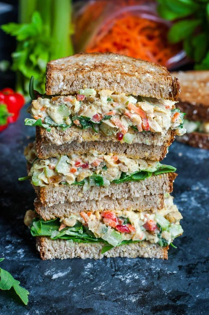 Image result for Garden Veggie Chickpea Sandwich