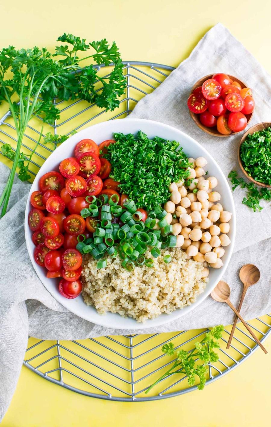 Tomato Quinoa Salad Ingredients