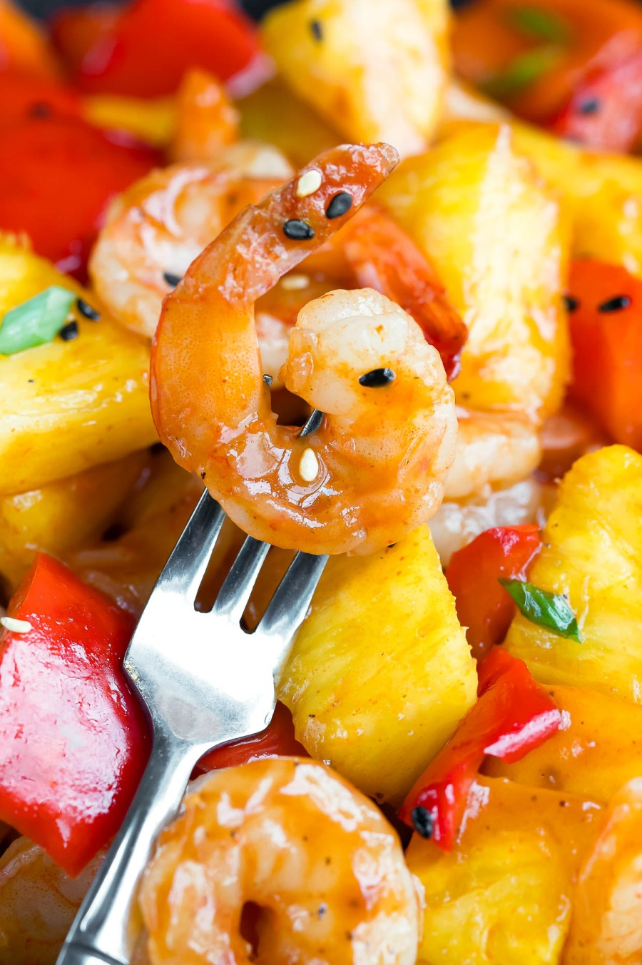 BBQ Pineapple Shrimp Dinner