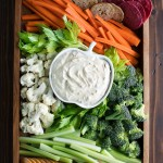 Easy Veggie Tray With Dip Peas And Crayons Blog
