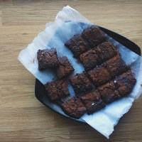 Black Bean Brownies (using Aquafaba.)