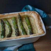 Creamy Asparagus Quiche.