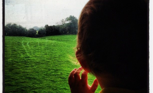 Enjoying the view from the window #WatercressLine #SteamGala